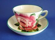 Wemyss Ware 'Cabbage Roses' Cup and Saucer c1900